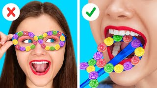 TOP BEST WAYS FOR SNEAKING FOOD ANYWHERE YOU GO || DIY Snacks Hacks And Sweets Tricks By 123GO! BOYS