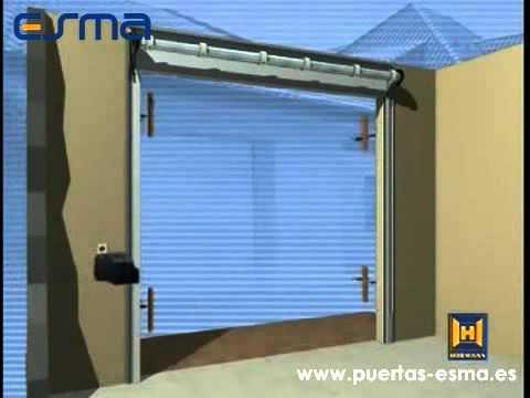 Instalaci n puerta de garaje rollmatic puertas esma - Puertas automaticas para cocheras ...
