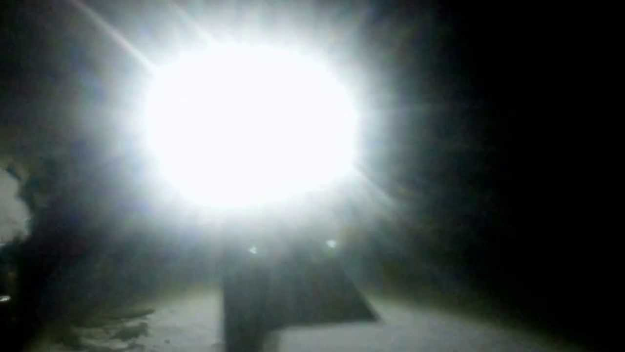 & Very bright LED lights on snowblower - YouTube