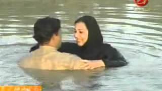 الفنانة ميلاد سري مشهد من مسلسل امطار النار2