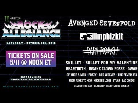 Rock Allegiance Fest 2018 - Avenged Sevenfold, Limp Bizkit, Papa Roach and many more..!