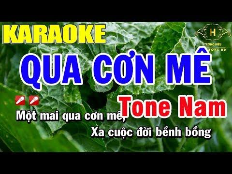 Karaoke Qua Cơn Mê Tone Nam Nhạc Sống | Trọng Hiếu