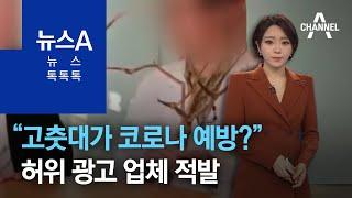 """[뉴스 톡톡톡]""""고춧대가 코로나 예방?""""…허위 광고 업…"""
