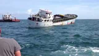 Kinta S Sinking Ship in Corpus Christi, Texas