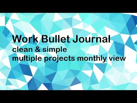 Work Bullet Journal | Multiple Projects & Horizontal Layout