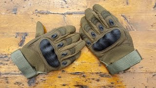 Hard Knuckle Tactical Gloves Review