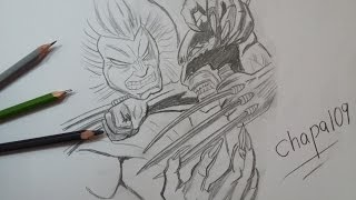 Dibujo de Wolverine vs Sabretooth: X-Men/ Drawing Wolverine vs Sabretooth: X-Men