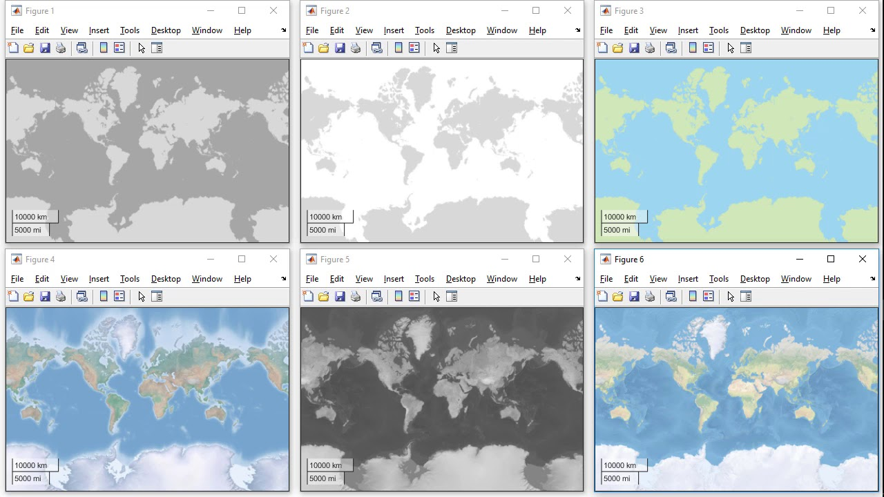 Plot Geographic Data on a Map in MATLAB