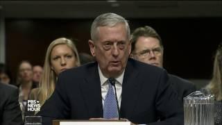 In Senate hearings, Mattis and Pompeo differ ...