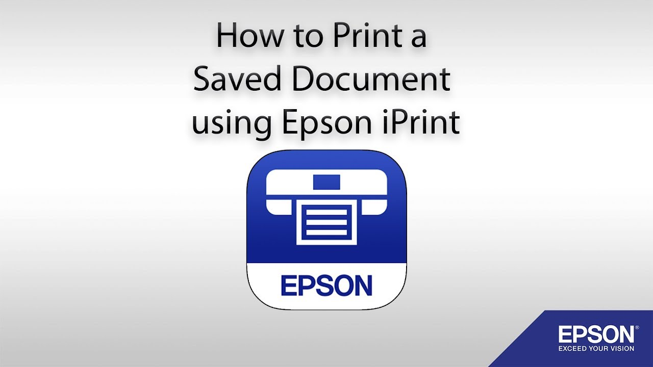 How to Print a Saved Document using Epson iPrint
