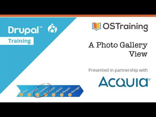 Drupal 8 Beginner, Lesson 42: A Photo Gallery View