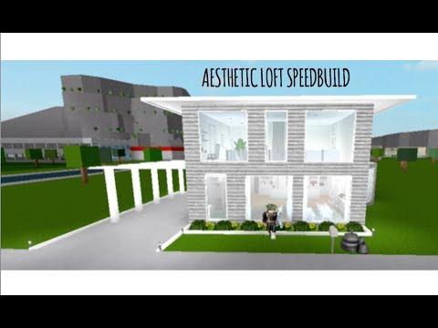 aesthetic modern loft speedbuild | welcome to bloxburg