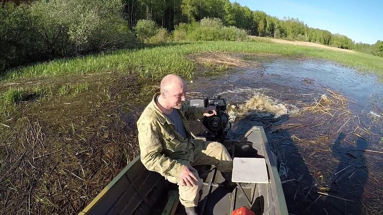 Жесткий тест мотора болотохода Бурлак