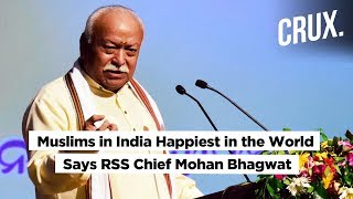 Muslims in India Happiest in the World Courtesy Hindu Culture, Says RSS Chief Mohan Bhagwat