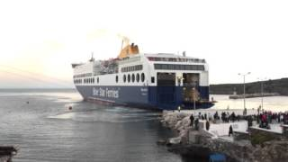Blue Star I at Oinousses port during first approach