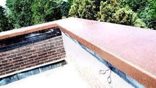 FIBERGLASS PARAPET WALL ROOF CAP WATERPROOFING