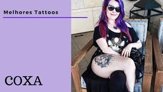 Grande tatuagem na coxa