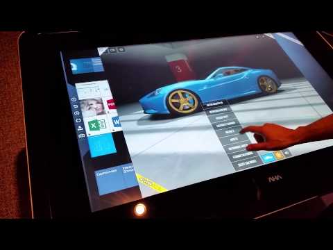 Interactive multi-touch table