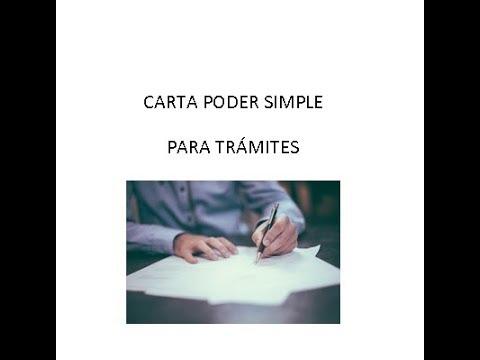 Carta Poder Simple 2019 Formato Word Y Pdf Descargar E