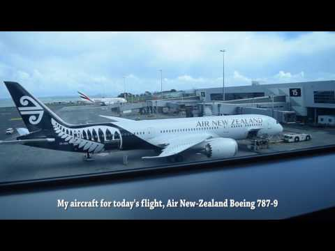 Take Off from Auckland International Airport AKL -- Air New-Zealand Boeing 787-9