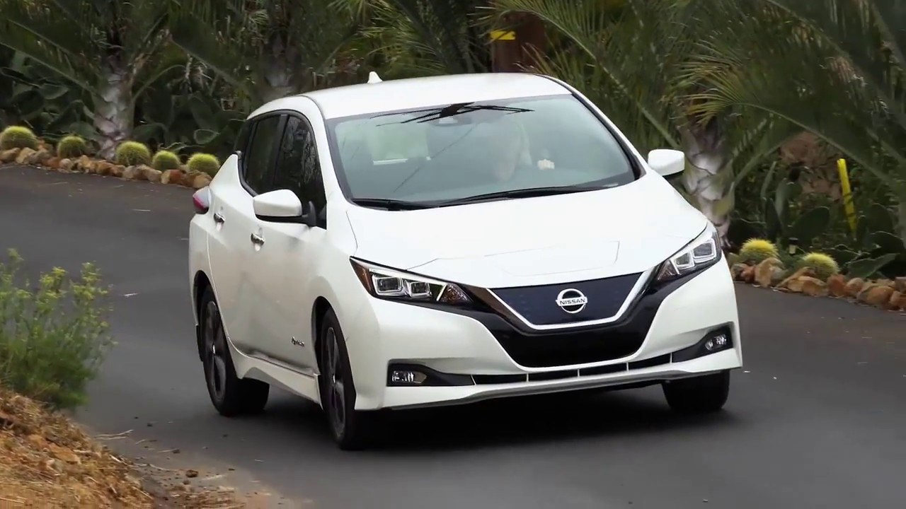 new 2018 nissan leaf 400 km range test drive youtube. Black Bedroom Furniture Sets. Home Design Ideas
