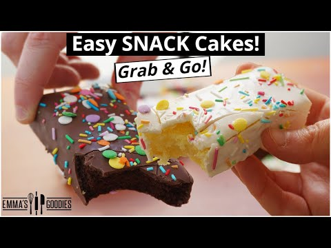 $1 SNACK CAKES! Grab & Go! Soft Cakes W/ Icing Shell! Lunch Box Cakes!