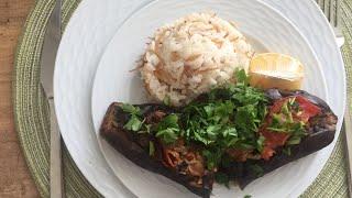 Karnıyarık tarifi! Баклажаны запечённые с начинкой!  #Patlıcan#баклажаны#фарш#kıyma