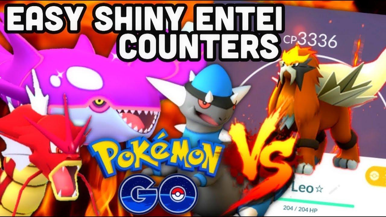 EASY SHINY ENTEI RAID COUNTERS IN POKEMON GO - YouTube
