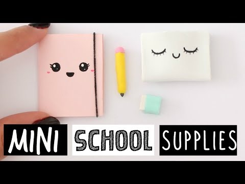 4 DIY REAL MINI SCHOOL SUPPLIES! Cute & Easy!