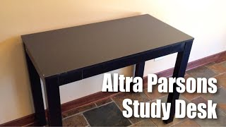 Altra Parsons Study Desk with Drawer in black finish by Altra Furniture