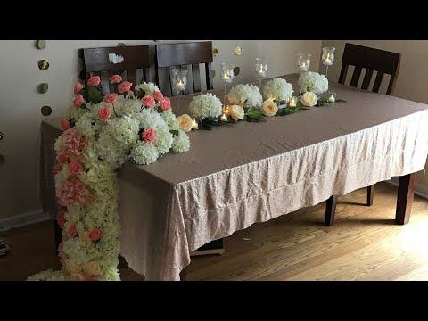 DIY- dollar tree long table Wedding decor |DIY floral decor| DIY- elegant decor |Diy-Wedding decor