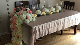DIY- dollar tree long table Wedding decor  DIY floral decor  DIY- elegant decor  Diy-Wedding decor