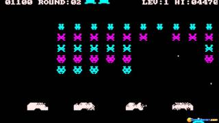 Space Strike gameplay (PC Game, 1982)