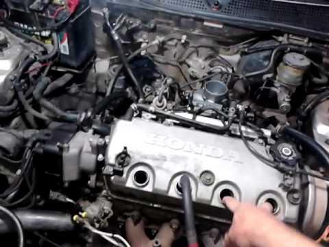 Honda Civic 1 6 16 v defeito na junta do cabeçote - YouTube