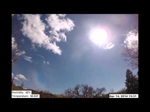 Natural Weather vs. Man-Made: A 96 Hr.Timelapse with Live Temp & RH