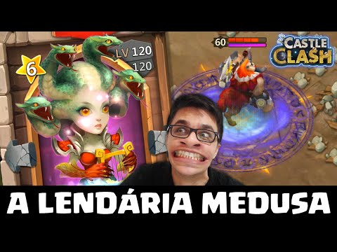 GANHEI A LENDÁRIA MEDUSA NO CASTLE CLASH