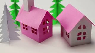 Small Paper House making-Easy and Cute