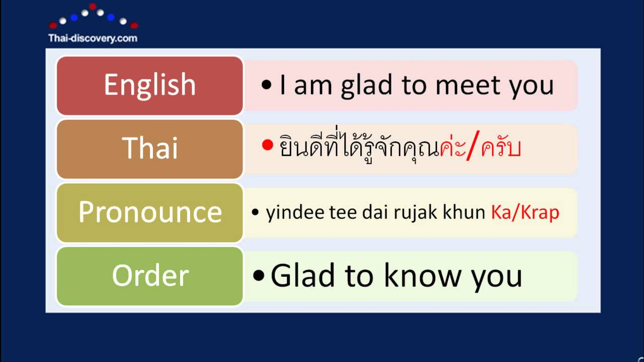 Learn thai lesson 1 greetings youtube m4hsunfo