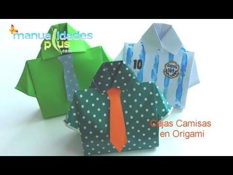 Cajas camisa en origami da del padre origami box t shirt youtube altavistaventures Image collections