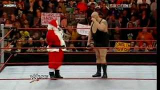 WWE: RAW Big Show and Santa Claus 21/12 2009