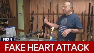 Richardson gun store owner fakes heart attack, grabs gun to shoot armed robber