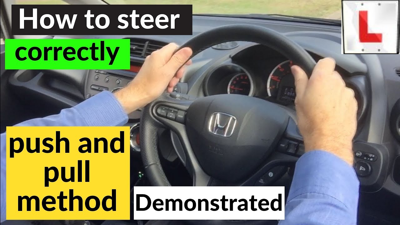 How to turn the steering wheel correctly - YouTube