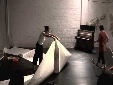 'Breathless' live art performance, 501 Artspace, Chongqing