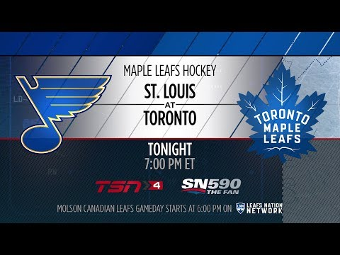 Molson Canadian Leafs Gameday: St. Louis at Toronto - January 16, 2018