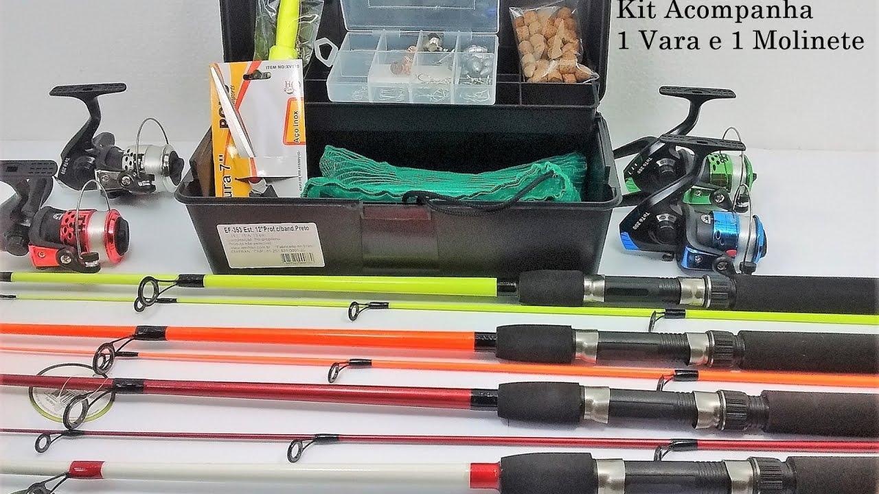 cdb76962f Kit de Pesca Sensacional para Rios Pesqueiros 65 acessórios - YouTube