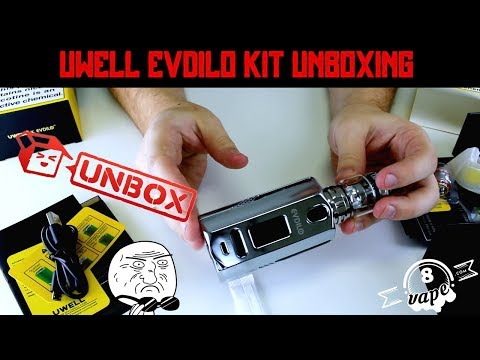 NEW Uwell Evdilo Kit Unboxing! The Shiniest Vape in Town Takes ALL BATTERIES?!