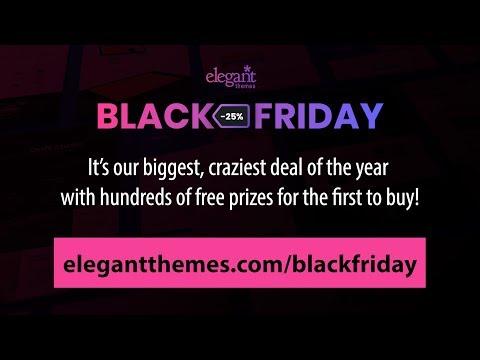 Elegant Themes' Black Friday Exclusive Layout Packs