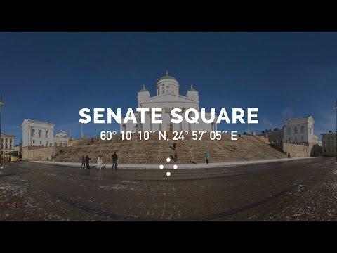 360° Sunny Morning at Senate Square, Helsinki | 100 Moods From Finland