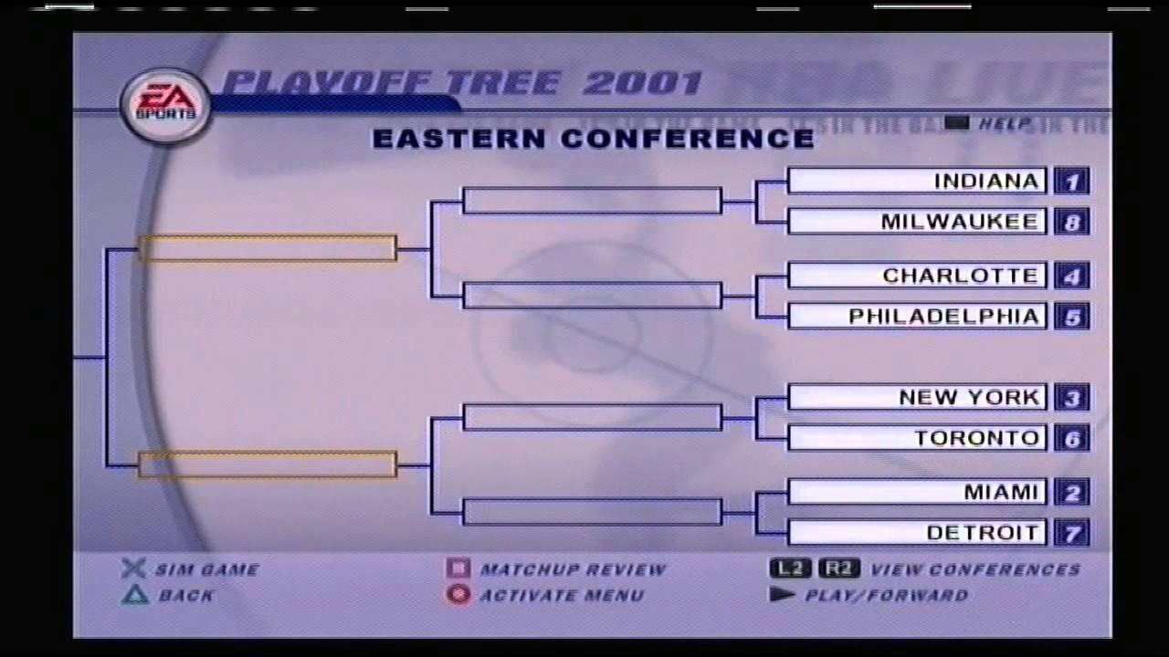 Nba Live 01 2000 Nba Playoff Brackets Youtube