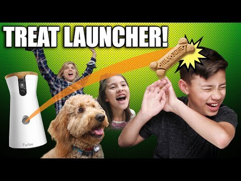 DOG TREAT LAUNCHER PRANK!!! Chloe Gets a Furbo Dog Camera, Babble Ball & Bark Box!